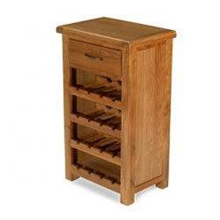 Earlswood Oak Petite Wine Rack With Drawer