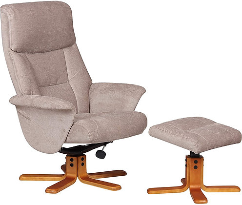 Marseille Swivel Recliner and Footstool