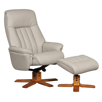 St Tropez Swivel Recliner and Footstool
