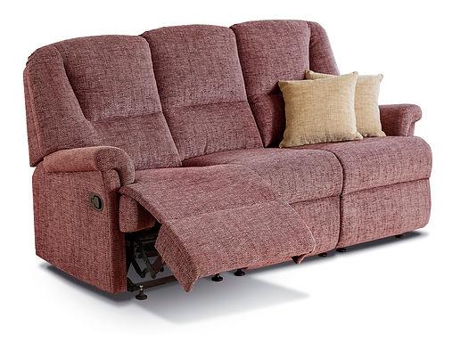 Sherborne Milburn Fabric Reclining 3-Seater Settee