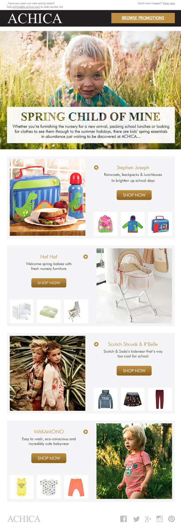 Kids Email Campaign