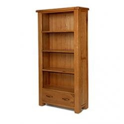 Earlswood Oak Large Bookcase With Drawer