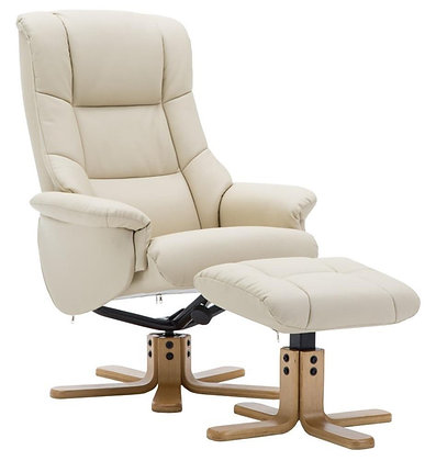 Florence Swivel Recliner and Footstool
