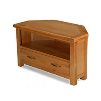 Earlswood Oak Corner TV Cabinet