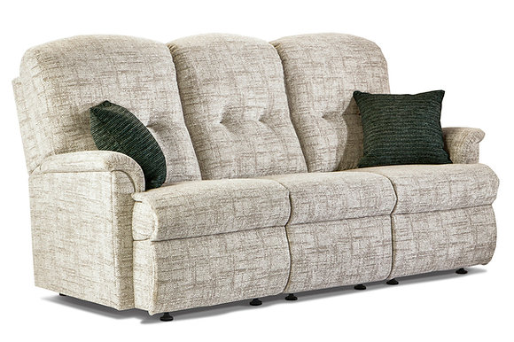 Sherborne Roma Small Fabric Fixed 3-Seater Settee