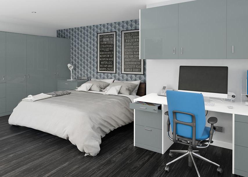 Furore Gloss Bedroom Grey Aqua