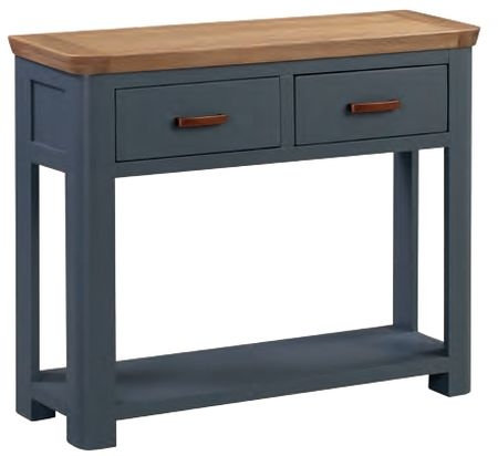 Treviso Midnight Blue and Oak Large Console Table