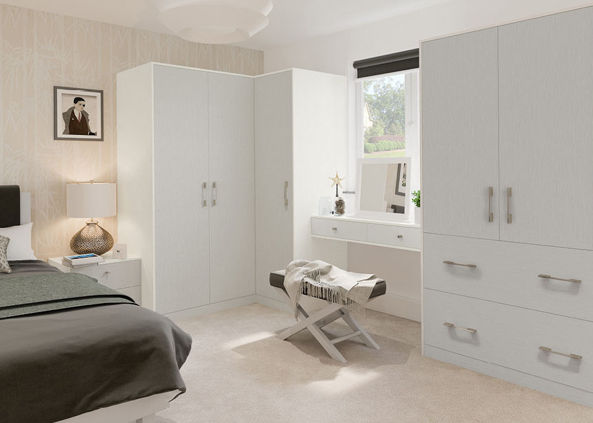 Textura Bedroom Grey Light and White