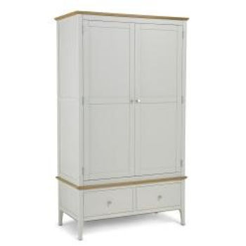 Branford Painted Double Wardrobe With Drawer