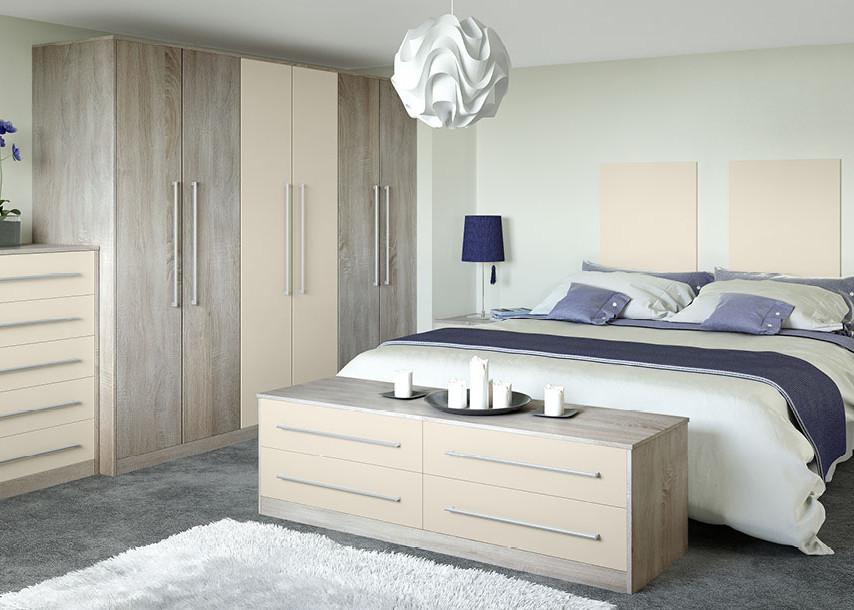 Locano MFC Bedroom Cashmere and Urban Oak
