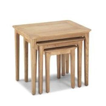 Wardley Oak Nest of 3 Tables