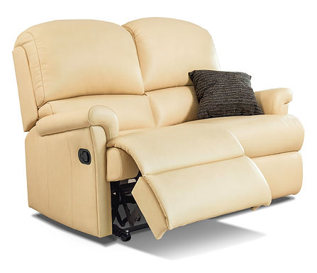 Sherborne Nevada Standard Leather Reclining 2-Seater Settee