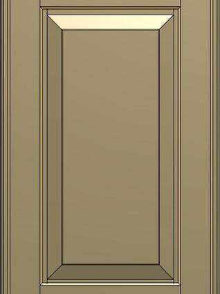 BALTIMORA Matt Lacquered Green With Gold