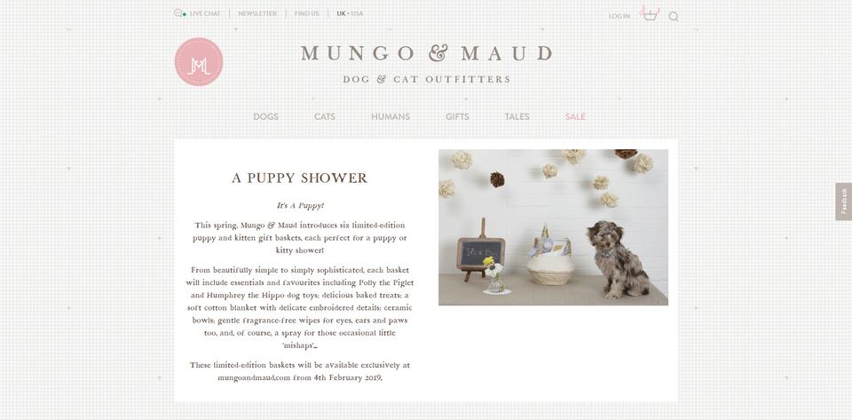 Mungo & Maud: Puppy Shower Campaign