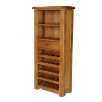 Earlswood Oak Tall Wine Cabinet