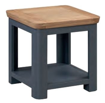 Treviso Midnight Blue and Oak Lamp Table