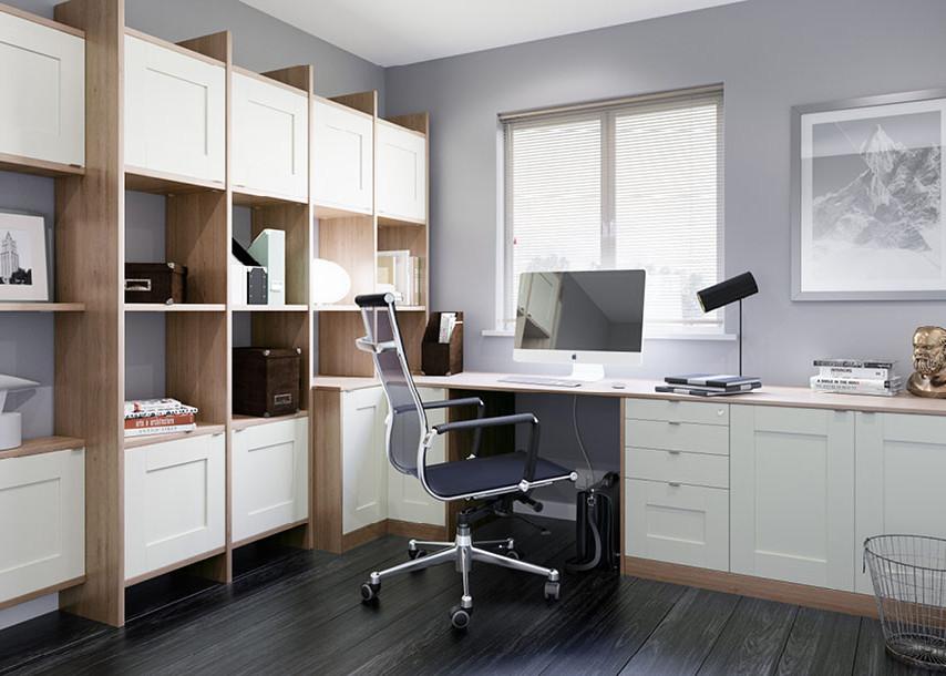 Midsomer Bedroom White and Kristal Oak