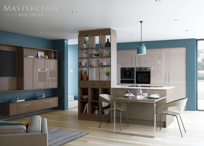 Lumina Heritage Grey Stone Grey Room Divider