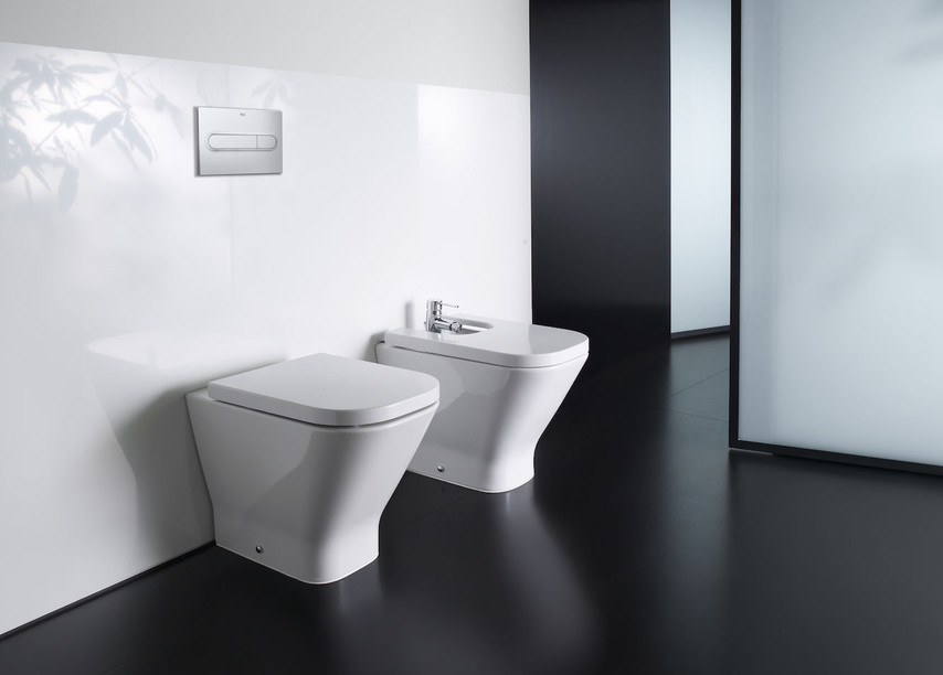 The Gap Square Floor Standing Toilet and Bidet