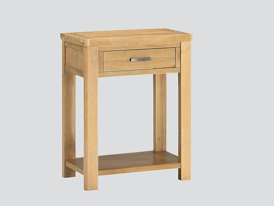 Andorra Washed Oak One Drawer Console