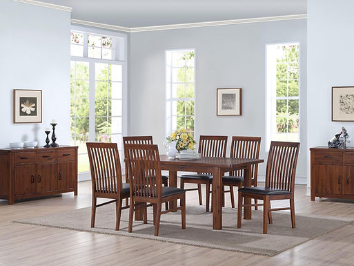 Andorra Acacia 5ft Butterfly Extension Dining Set