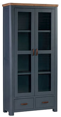 Treviso Midnight Blue and Oak Display Cabinet