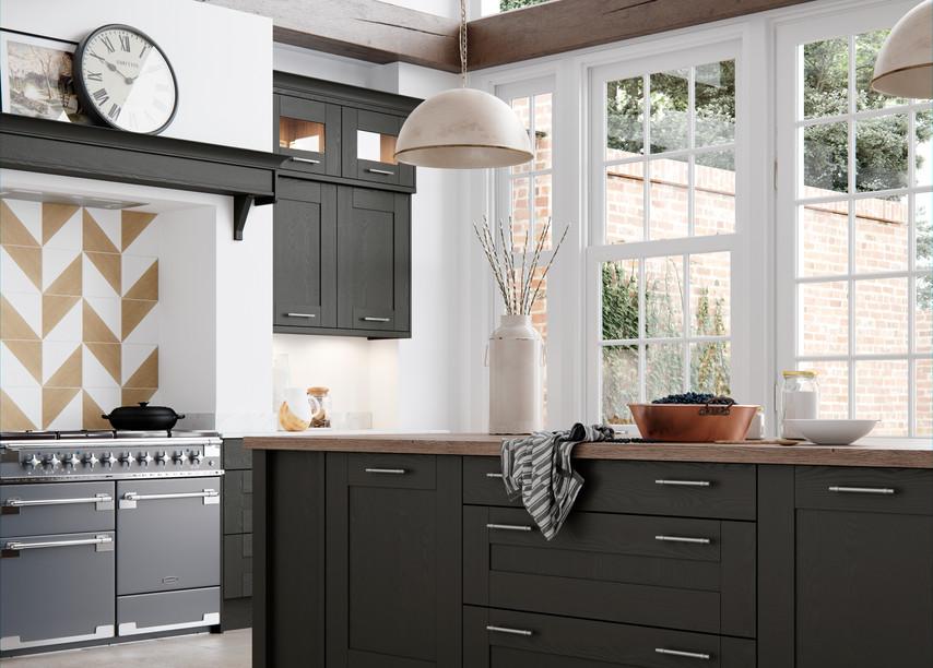 Wimbourne Graphite Light Grey Tuscan Walnut