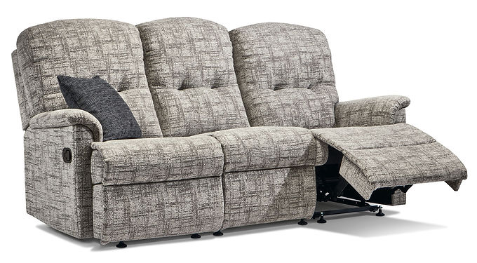 Sherborne Lincoln Standard Fabric Reclining 3-Seater Settee