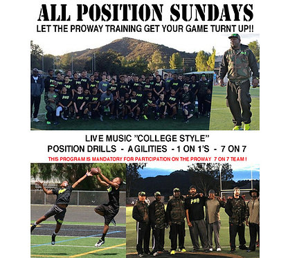 ALL POSITION SUNDAYS - 1 MONTH (4 sessions*)