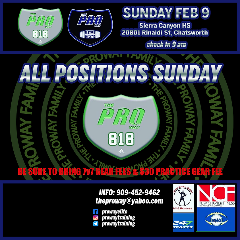 THE PROWAY 818 ALL POSITION SUNDAY