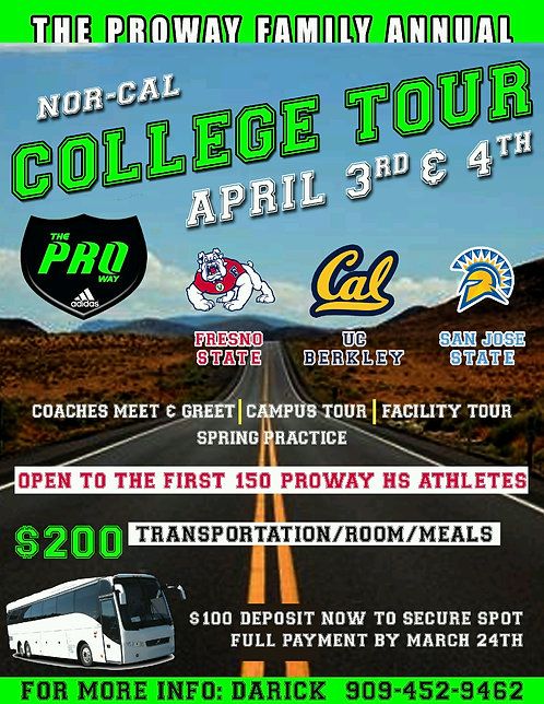 Nor Cal College Tour - Full Payment