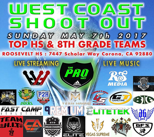 WEST COAST SHOOTOUT 7V7 TOURNAMENT FEE