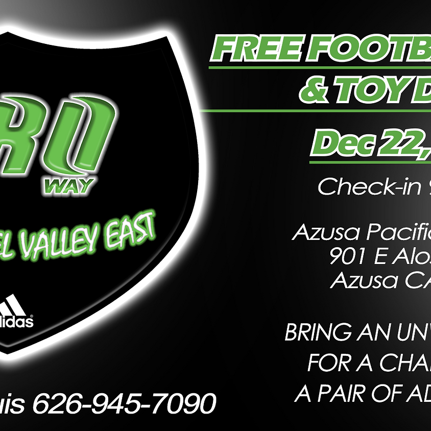 The Proway San Gabriel Valley East FREE Football Camp & Toy Drive