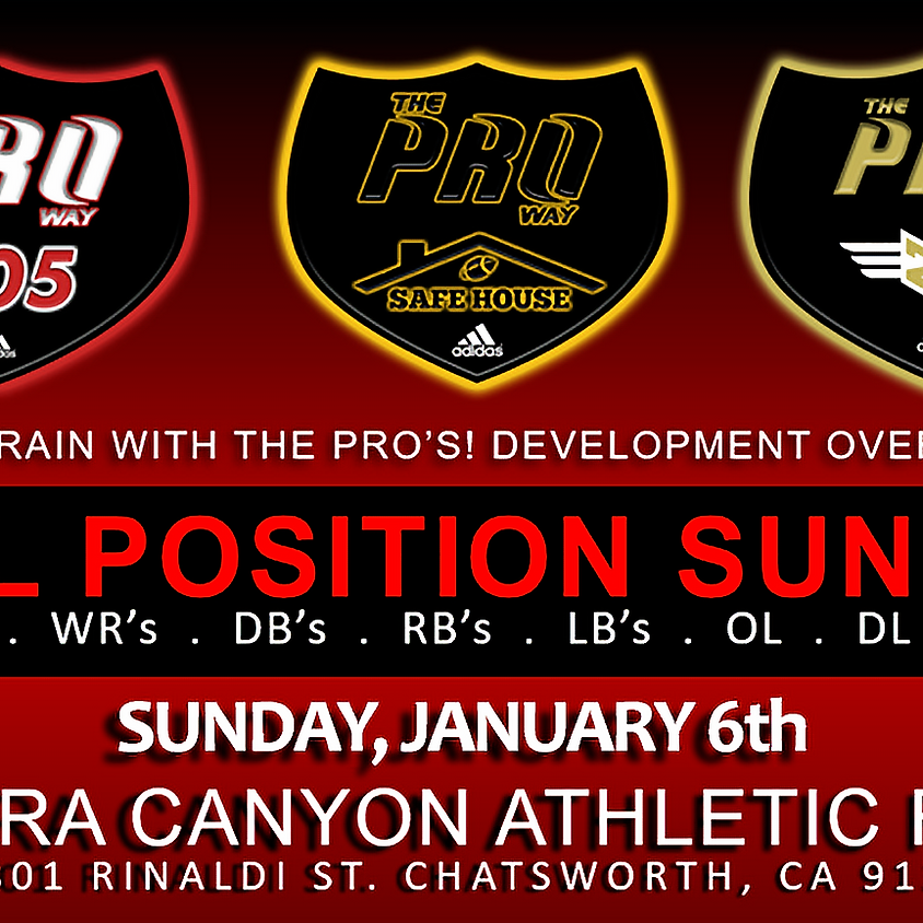 THE PROWAY TRAINING ALL POSITION SUNDAY JAN 6th