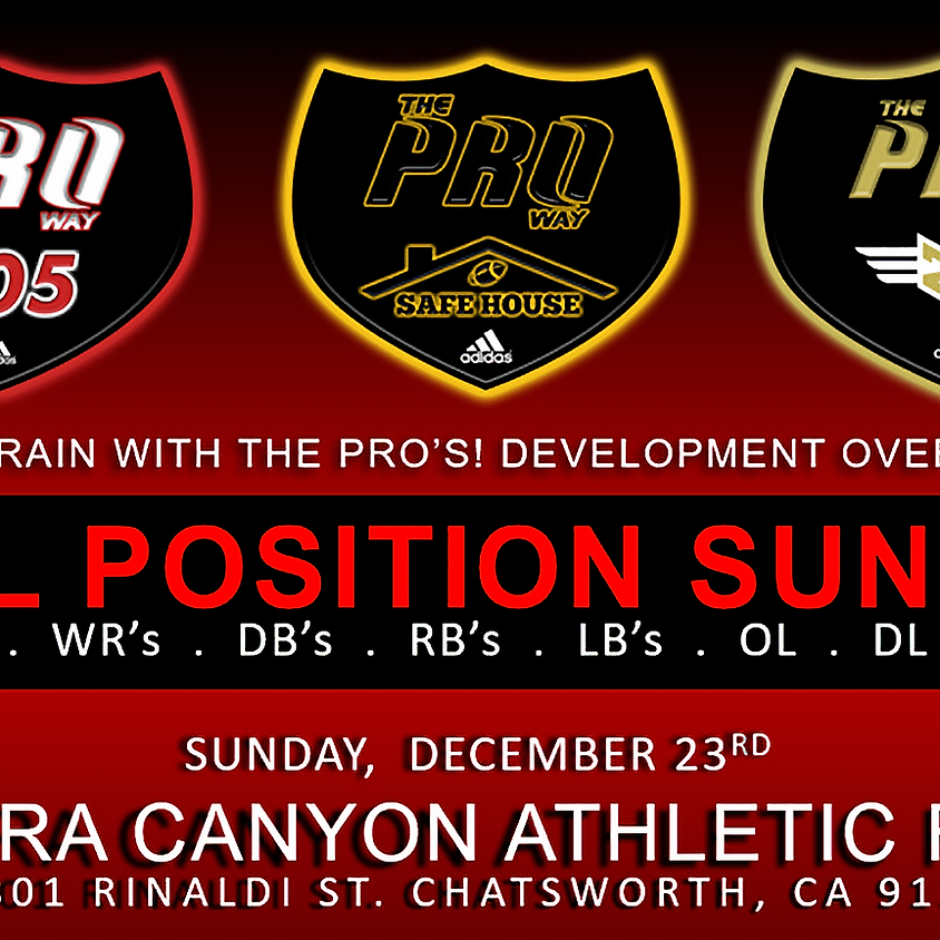 THE PROWAY TRAINING ALL POSITION SUNDAY