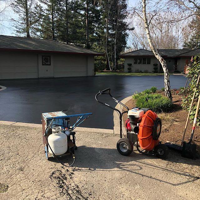 Clean, repair cracks with hot tar and #s