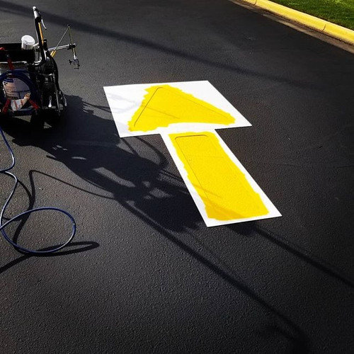 Striping or pavement marking