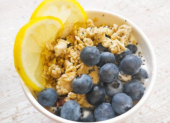 ORGANIC* Blueberry Lemon Drizzle Overnight Oats
