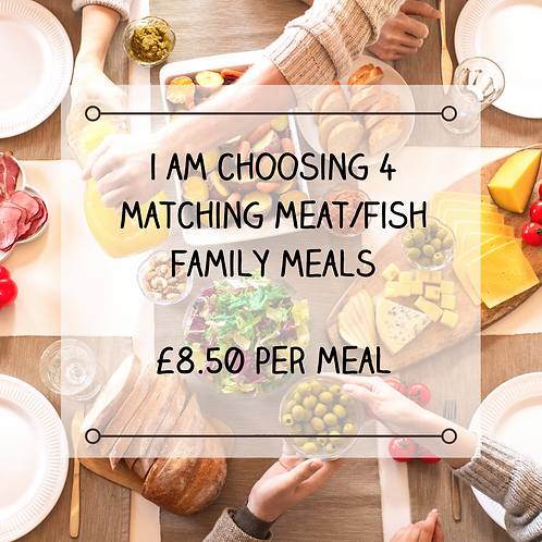 4 Matching Family Meat/Fish Meals