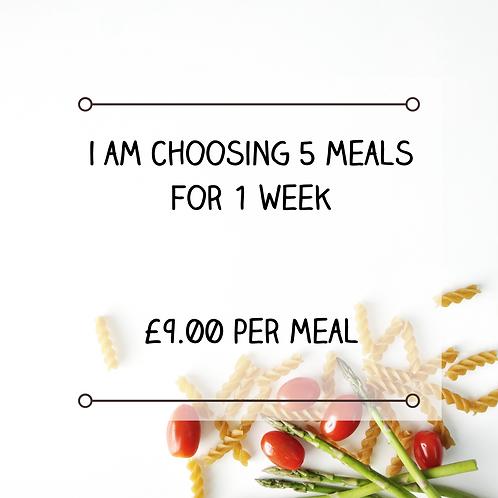 5 Meals in 1 Week