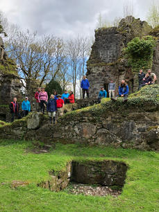 Finlairg Castle , Rob Roy Way tour