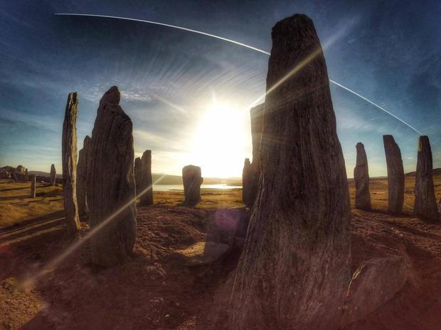 Western Isles tour , Callanish standing stones