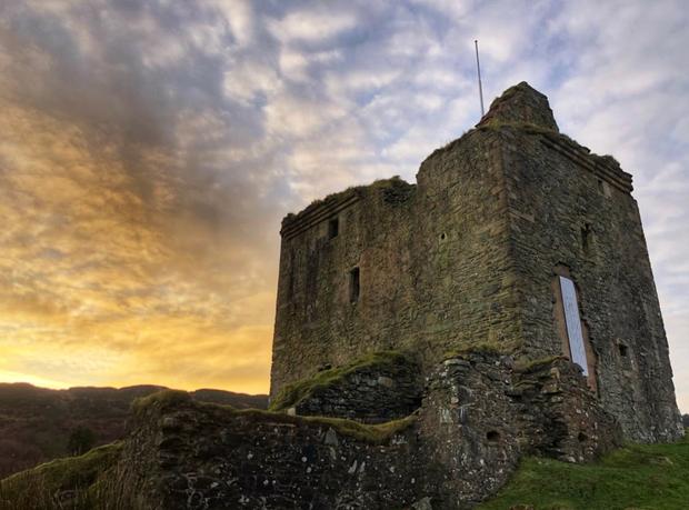 Tarbet Castle , Kintyre Way