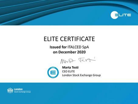 ITALCED SpA certificata ELITE Borsa Italiana