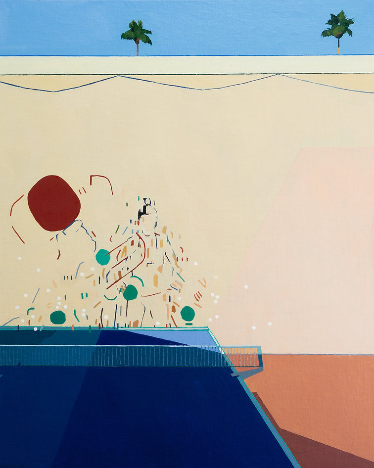 Fred Coppin - Ping Pong(oil on linen on