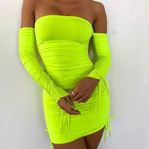 Neon ribbed mini