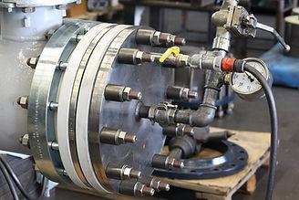 Web Site - Pressure test heat exchanger.