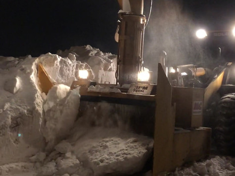 Operating Snow Blower