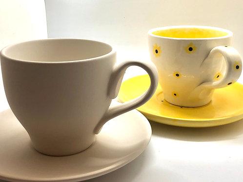 Cup  8.9 x 8.6cm H & Saucer 15.9cm