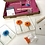 Thumbnail: Glass Fused Coasters 'Make At Home' Kit Sprinkle Flowers (Make 4)
